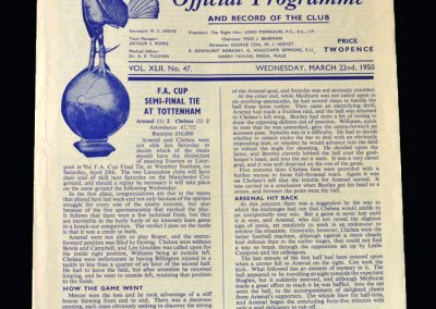Chelsea v Arsenal 22.03.1950 - FA Cup Semi Final Replay