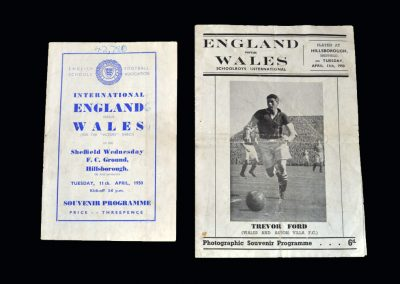 England v Wales 11.04.1950 (Schools Match - with Pirate)