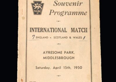 England Boys v Scotland & Wales Boys 15.04.1950 (at Ayresome)