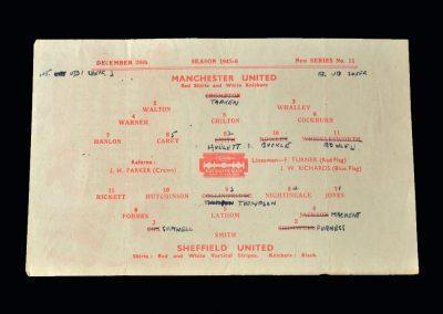 Man Utd v Sheff Utd 26.12.1945