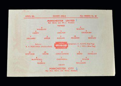 Man Utd v Man City 06.04.1946