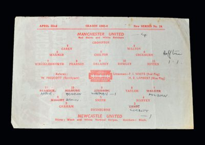 Man Utd v Newcastle Utd 22.04.1946