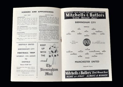 Man Utd v Birmingham 20.08.1955