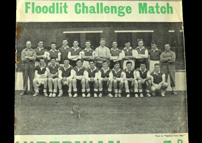 Man Utd v Hibs 19.09.1955 - Friendly