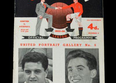 Man Utd v Arsenal 05.11.1955