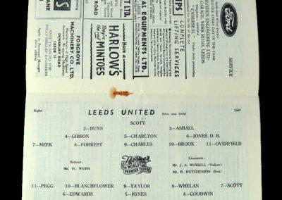 Man Utd v Leeds 28.01.1956 - Friendly