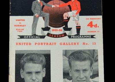 Man Utd v Burnley 04.02.1956