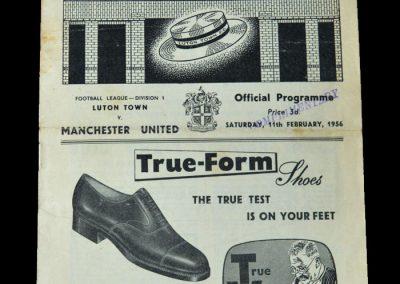 Man Utd v Luton 11.02.1956
