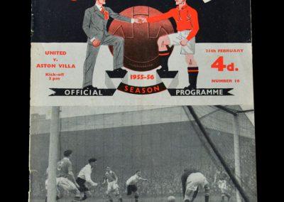 Man Utd v Aston Villa 25.02.1956