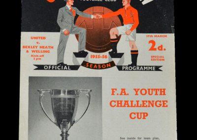 Man Utd Youth v Bexley Heath & Welling 17.03.1956