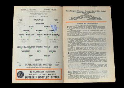 Man Utd Reserves v Wolves Reserves 21.04.1956