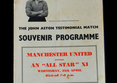 Man Utd v All Star 11 25.04.1956 - Aston Testimonial