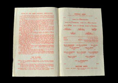 British Army v French Army 28.04.1956