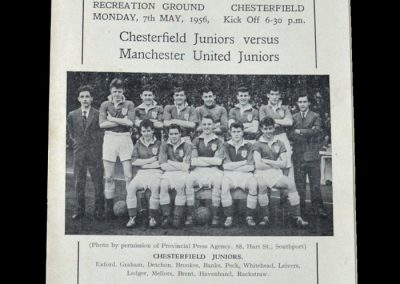 Man Utd Youth v Chesterfield Youth 07.05.1956 - FA Youth Cup Final 2nd Leg