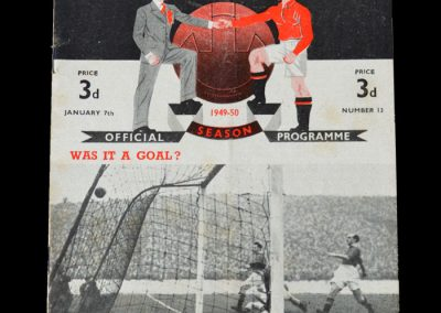 Man Utd v Weymouth 07.01.1950