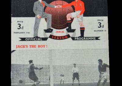 Man Utd v Portsmouth 11.02.1950