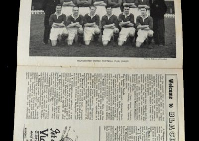 Man Utd v Blackpool 18.03.1950