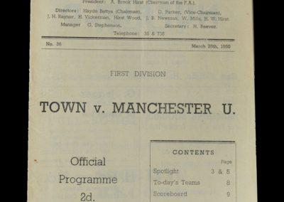 Man Utd v Huddersfield 25.03.1950