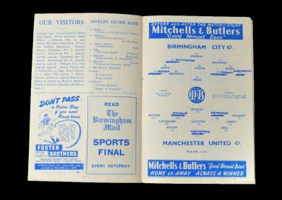 Man Utd v Birmingham 10.04.1950