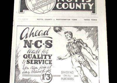 Notts County v Northampton 27.12.1948