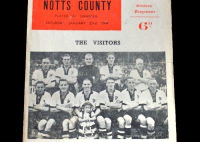 Notts County v Swansea 22.01.1949
