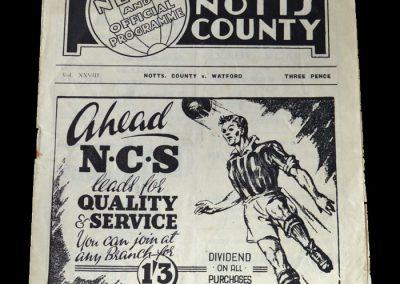 Notts County v Watford 26.02.1949