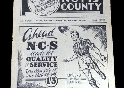 Notts County v Brighton 30.04.1949