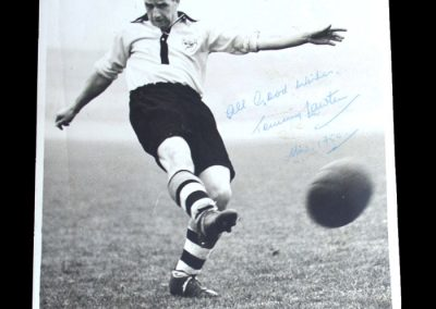 Tommy Lawton Signed Photo 1950