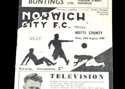Notts County v Norwich 24.08.1949