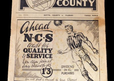 Notts County v Tilbury 26.11.1949 - FA Cup 1st Round