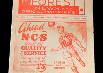 Notts County v Notts Forest 03.12.1949