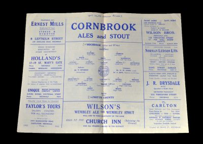 Notts County v Rochdale 10.12.1949 - FA Cup 2nd Round