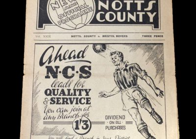 Notts County v Bristol Rovers 24.12.1949