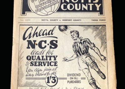 Notts County v Newport 25.02.1950
