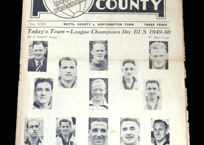 Notts County v Northampton 27.04.1950