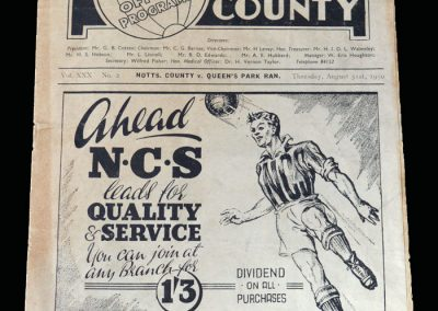Notts County v QPR 31.08.1950