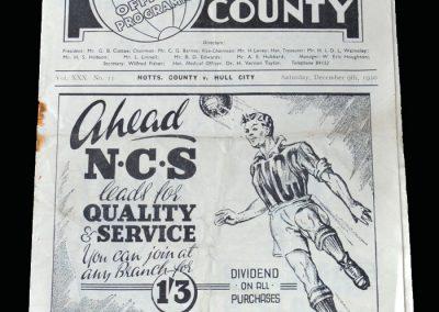 Notts County v Hull 09.12.1950