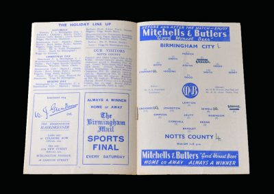 Notts County v Birmingham 30.12.1950