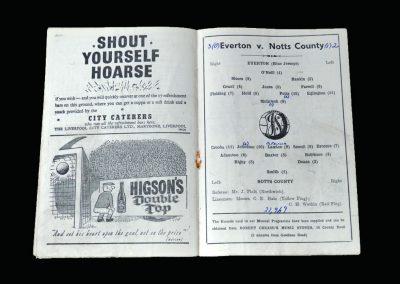 Notts County v Everton 27.01.1951 - Friendly