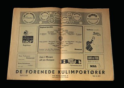England v Denmark 26.09.1948 (Lawtons last game)