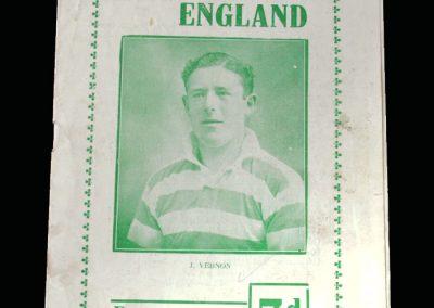 England v Ireland 09.10.1948