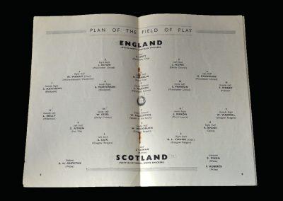 England v Scotland 09.04.1949