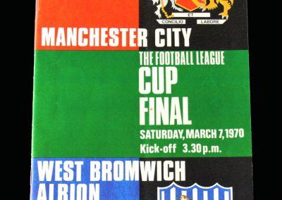 Man City v West Brom 07.03.1970 - League Cup Final