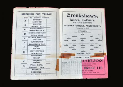 Accrington v Durham City 30.09.1922