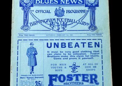 Birmingham v West Brom 05.02.1927