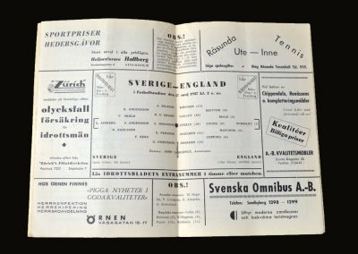 Sweden v England 17.05.1937