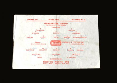 Man Utd v Preston 26.01.1946 - FA Cup 4th Round