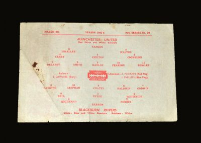 Man Utd v Blackburn 09.03.1946
