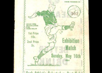 Cork v Port Vale 16.05.1954