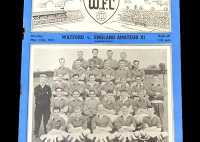 Watford v England Amateur 11 15.03.1954 (International Trial)